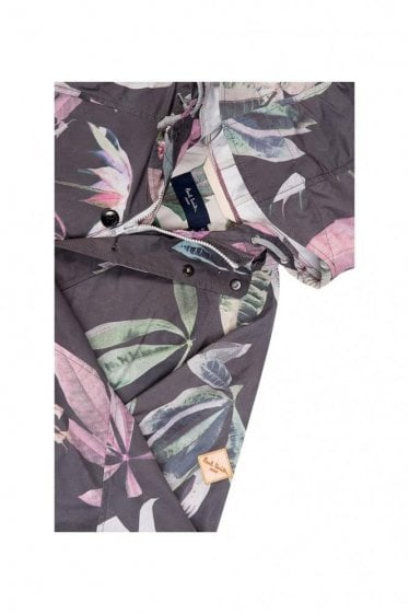 Paul Smith Jeans Leaf Print Hooded Jacket