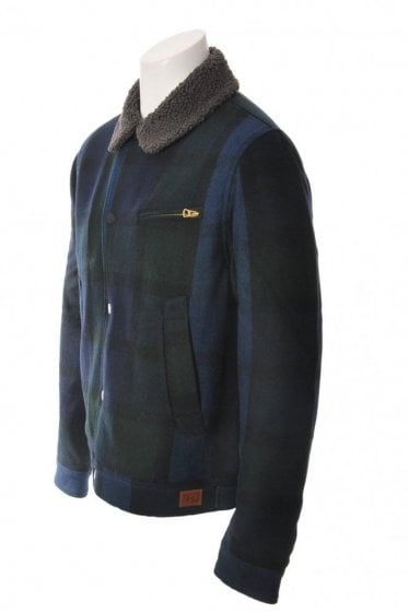 Paul Smith Jeans Wool Mix Check Coat