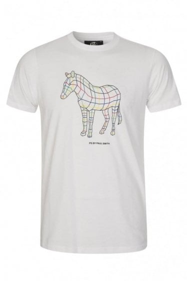 Paul Smith Line Zebra T-Shirt White