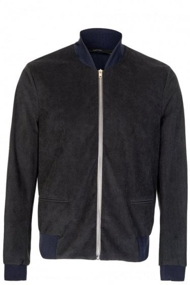 Paul Smith London Alcantara Faux-Suede Bomber Jacket