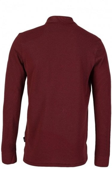 Paul Smith Long Sleeve Burgundy Polo Shirt