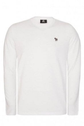 Paul Smith Long Sleeve Zebra T-Shirt White