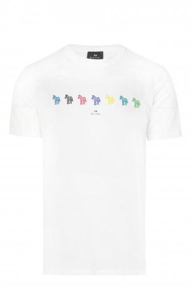 9c251370 Paul Smith Multi-coloured Zebra T-shirt