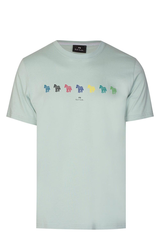 fd4f50e7b PAUL SMITH Paul Smith Multi-coloured Zebra T-shirt - Clothing from ...