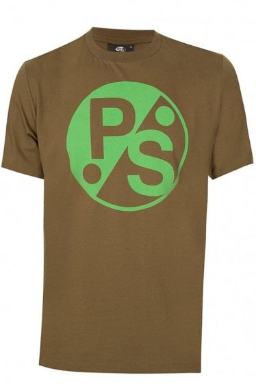 Paul Smith New Logo Tshirt Khaki