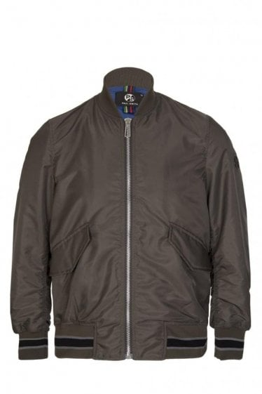 Paul Smith Nylon Bomber Jacket Khaki