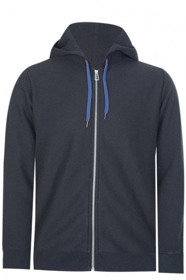Paul Smith Organic Cotton Zip Hoodie Black