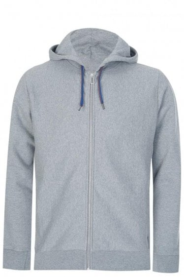Paul Smith Organic Cotton Zip Hoodie Grey