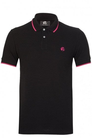 Paul Smith P.S Contrast Tipped Polo Black