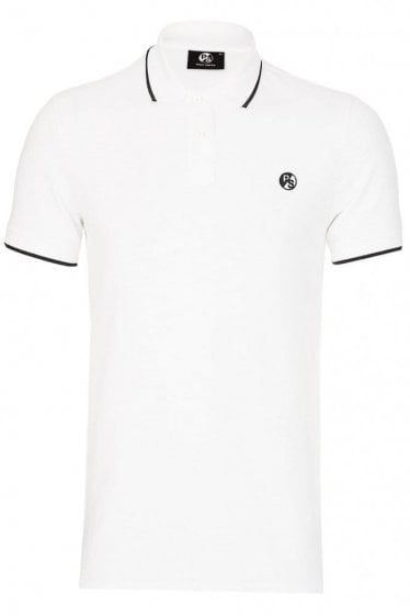 Paul Smith P.S Contrast Tipped Polo White