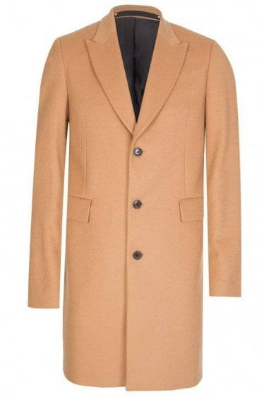 Paul Smith Peak Lapel Coat Camel
