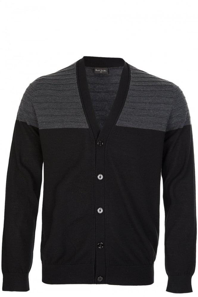 PAUL SMITH PS Contrast Ribbed Shoulder Cardigan