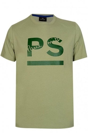Paul Smith PS Logo Tshirt Khaki