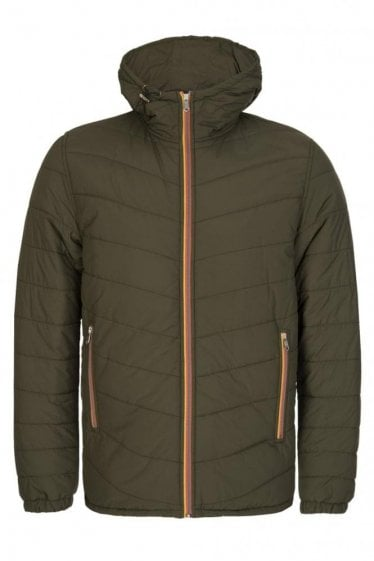 Paul Smith Quilted Hooded Jacket Green