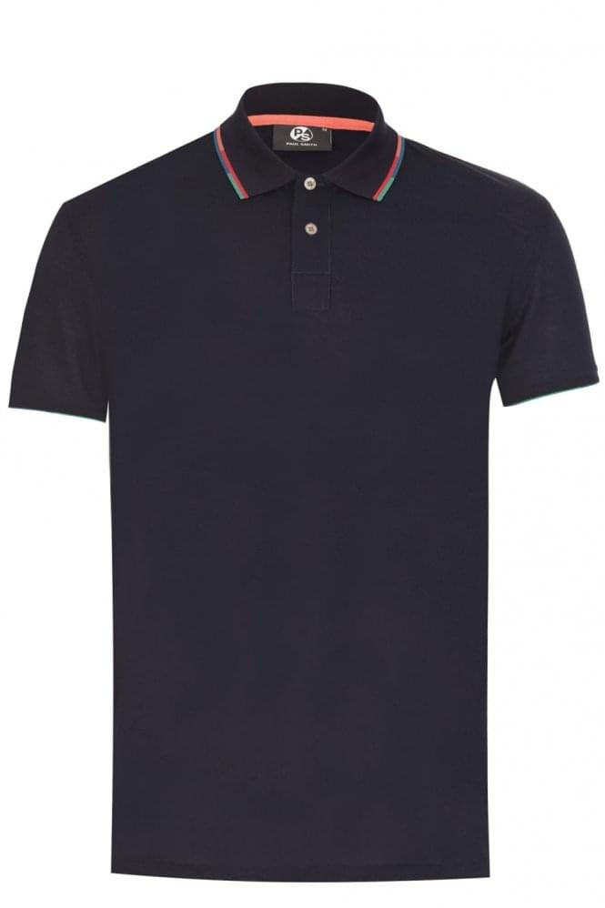 PAUL SMITH Regular Fit Contrast Trim Polo Navy