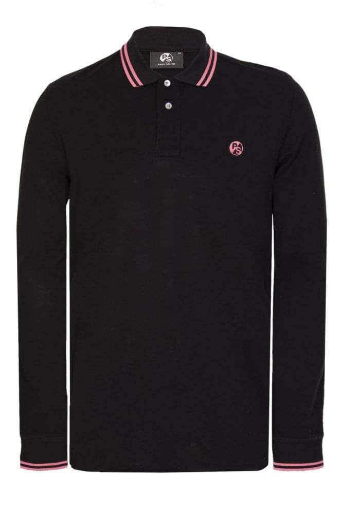 PAUL SMITH Regular Fit Long Sleeve Polo Black