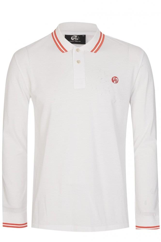 PAUL SMITH Regular Fit Long Sleeve Polo White