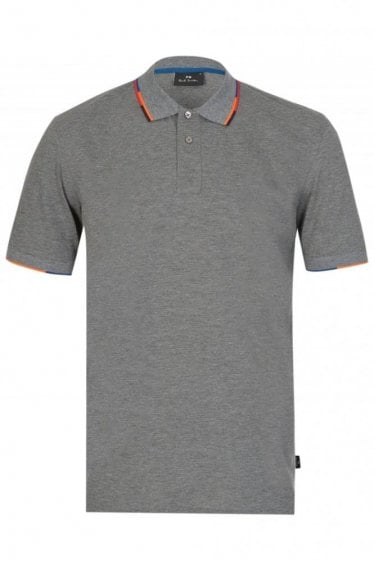 Paul Smith Regular Fit Trimmed Polo Grey