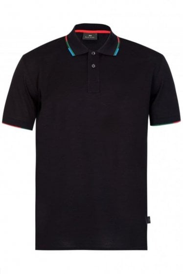 Paul Smith Regular Fit Trimmed Polo Navy