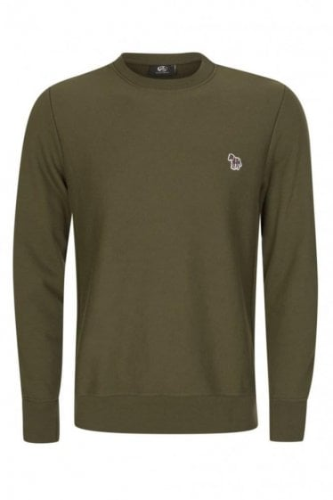Paul Smith Regular Fit Zebra Sweatshirt Green