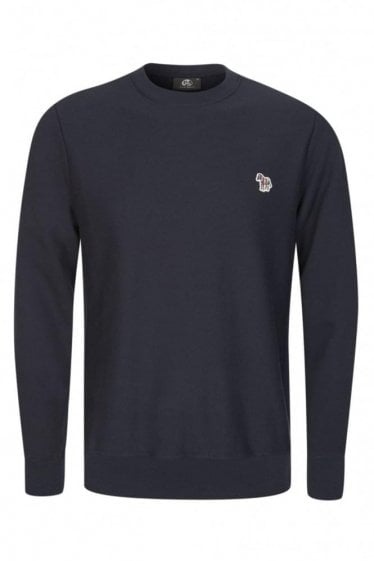 Paul Smith Regular Fit Zebra Sweatshirt Navy