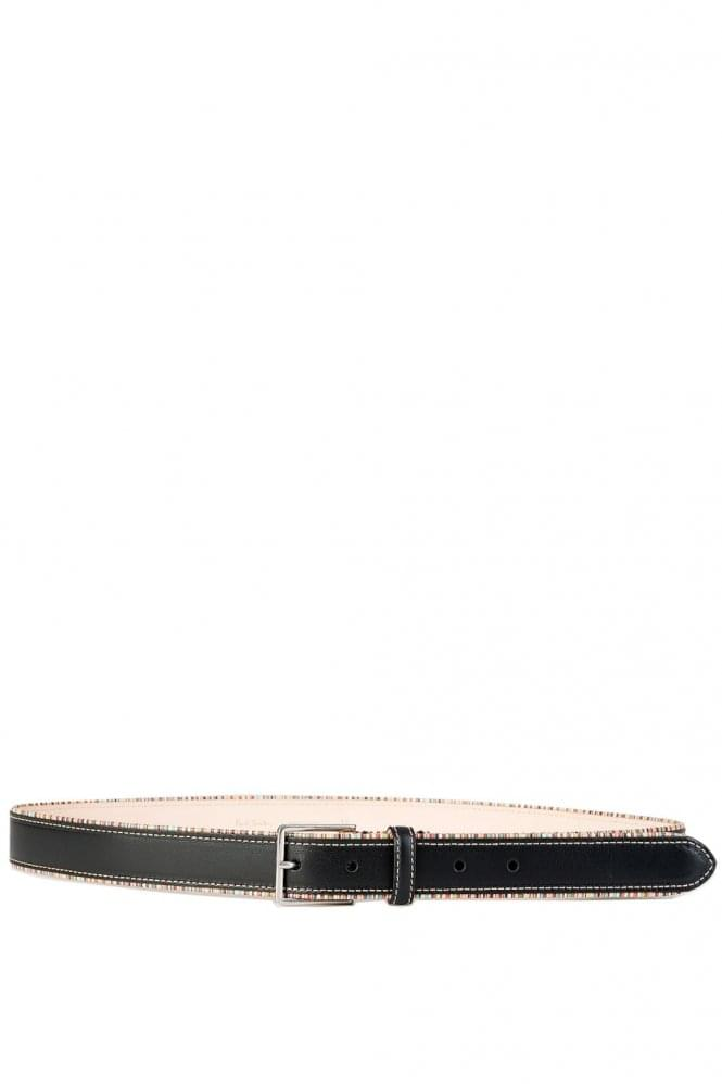 PAUL SMITH Signature Stripe Belt Black
