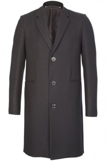 Paul Smith Single Breasted Coat Black