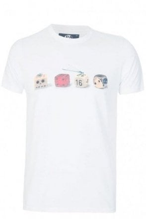 Paul Smith Slim Fit Dice Print T-shirt White