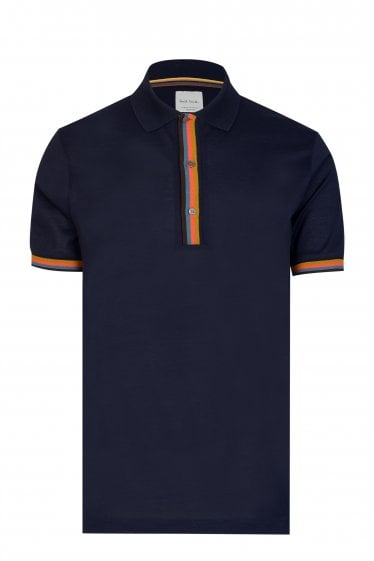 Paul Smith Stripe Placket Polo Shirt