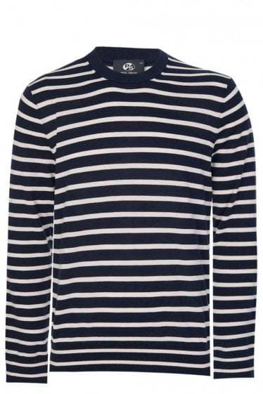 Paul Smith Striped Knitted Jumper Navy