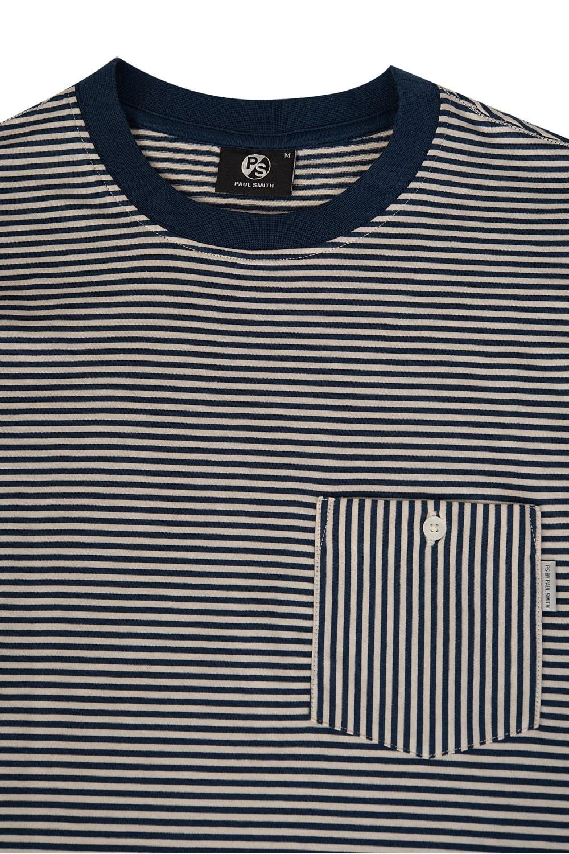 2c541d92f6 Paul Smith Striped Pocket T-Shirt Navy