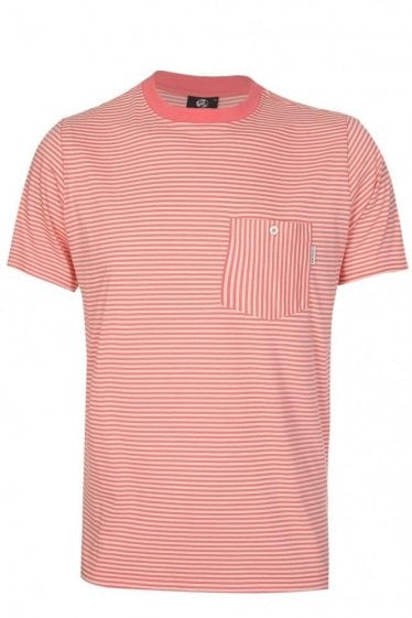 Paul Smith Striped Pocket T-Shirt Pink
