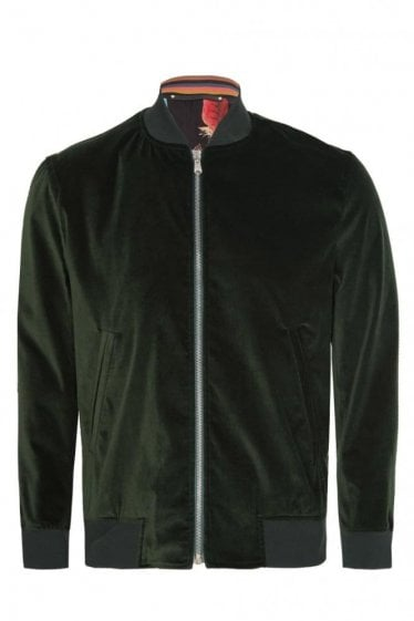 Paul Smith Velvet Bomber Jacket Green