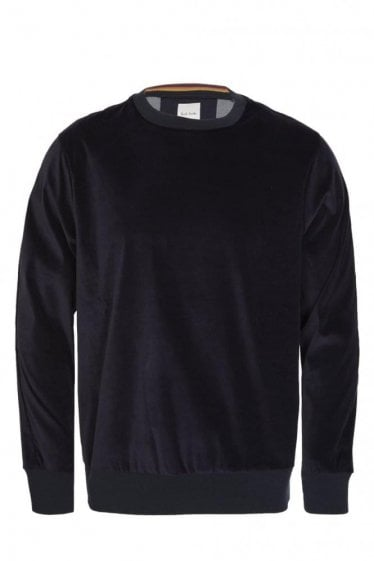 Paul Smith Velvet Sweatshirt Navy