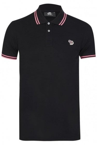 Paul Smith Zebra Slim Fit Polo Black