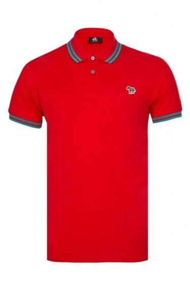 Paul Smith Zebra Slim Fit Polo Red