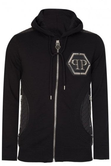 Philipp Plein 'Air' Zip Hoodie Black