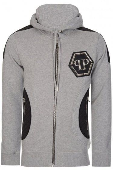 Philipp Plein 'Air' Zip Hoodie Grey