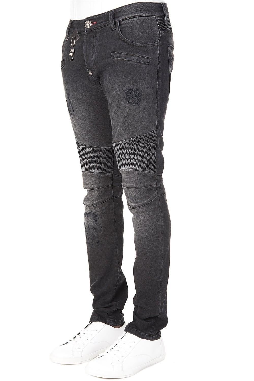 philipp plein philipp plein biker fit aggressive jeans black philipp plein from circle fashion uk. Black Bedroom Furniture Sets. Home Design Ideas