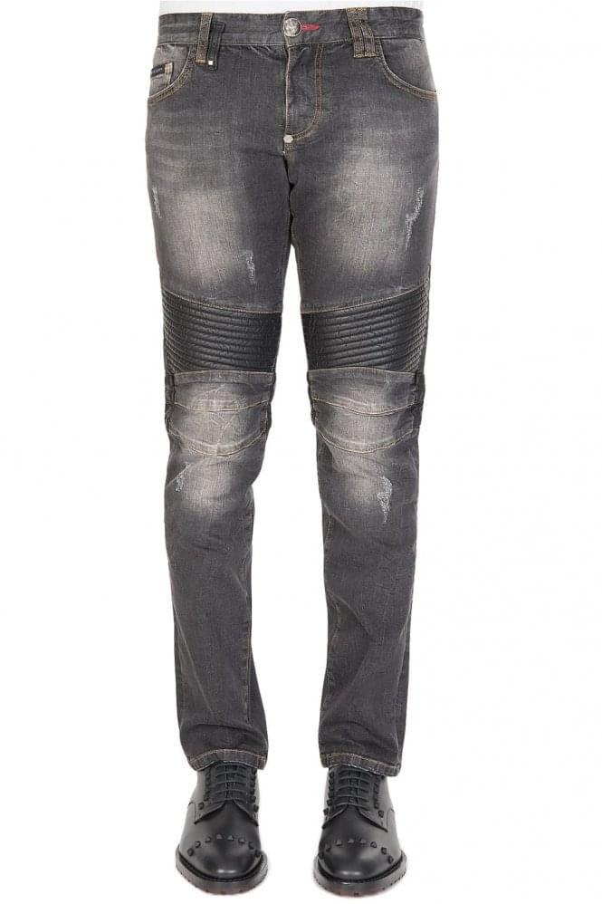 Philipp Plein Biker Hatutu Jeans