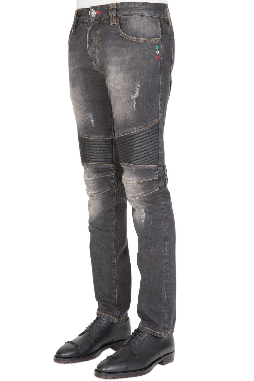 philipp plein biker hatutu jeans. Black Bedroom Furniture Sets. Home Design Ideas