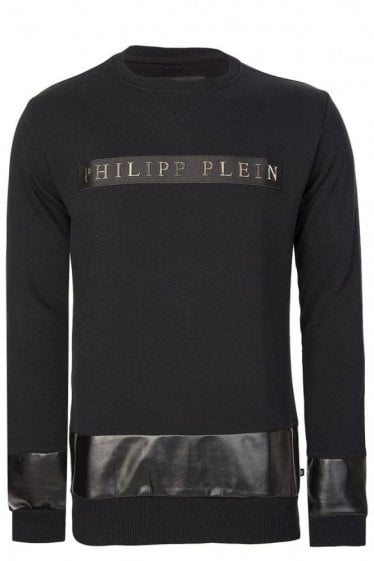 Philipp Plein Chest Logo Sweatshirt Black