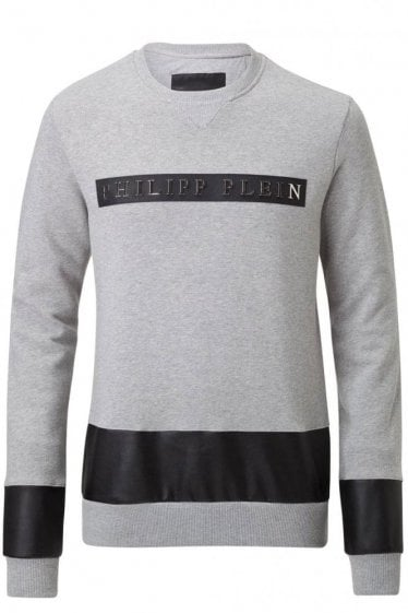 Philipp Plein Chest Logo Sweatshirt Grey