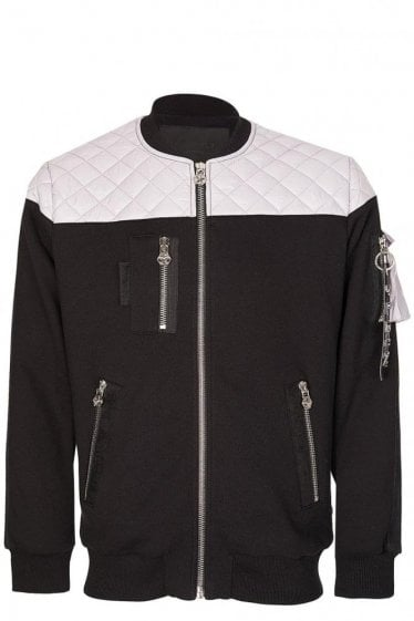 Philipp Plein Commander Quilted Panel Jacket