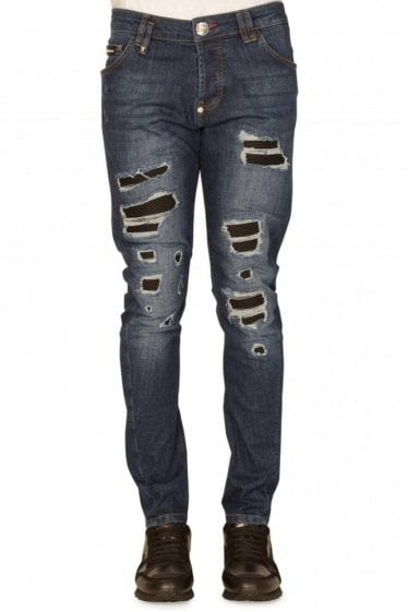 Philipp Plein  'Dont Care' Ripped Jeans