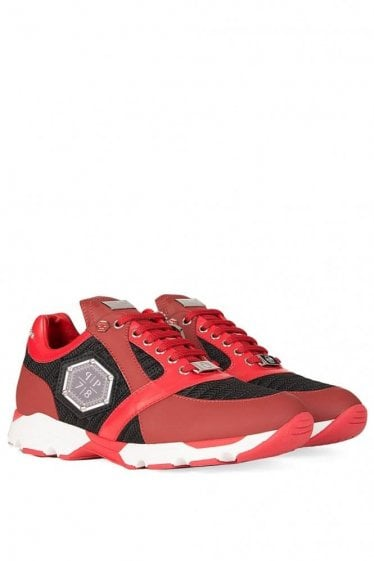 "Philipp Plein ""Johnney is Back"" Trainers Red"
