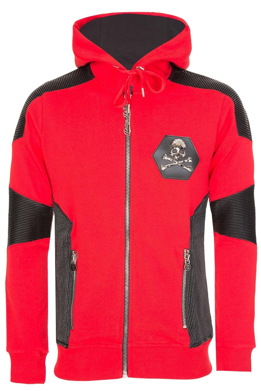 Philipp Plein Mahoodie Sweat Native Hooded Jacket Red