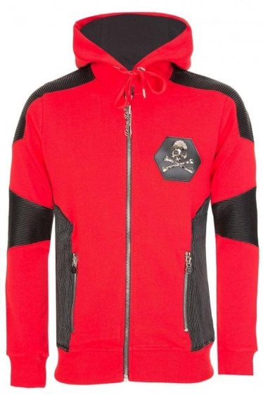 Philipp Plein Mahoodie Sweat Native Hooded Jacket Red