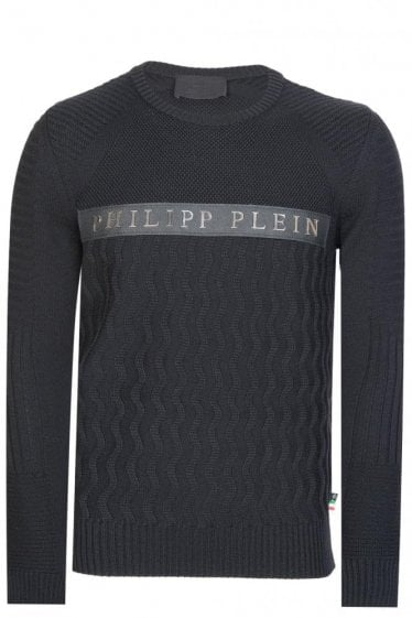 Philipp Plein 'Random' Knitted Sweatshirt Black