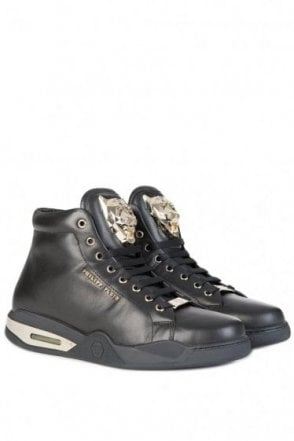 Philipp Plein 'Round Here' High Rise Sneakers